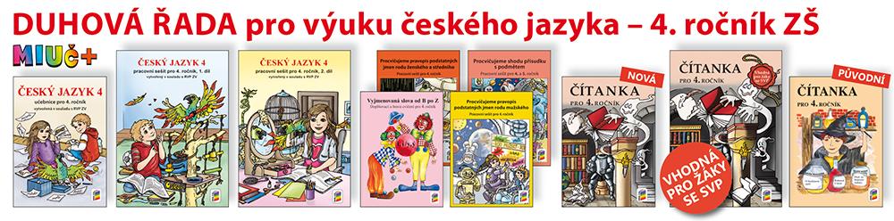 DUHOVÁ ŘADA pro výuky českého jazyka - 4. ročník ZŠ